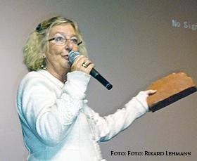 Madeleine Brandin föreläser. Foto: Rikard Lehmann